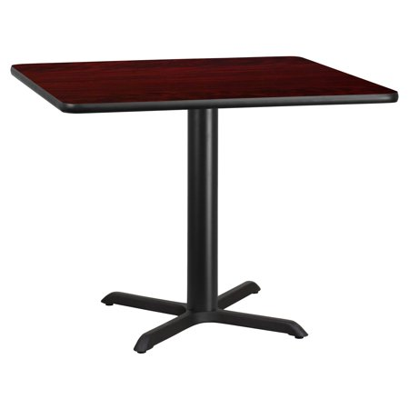 "Flash Furniture 42"" Square Laminate Table Top with 33"" x 33"" Table Height Base, Multiple Colors"