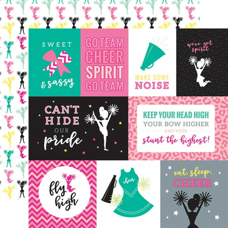 "Cheer Double-Sided Cardstock 12""X12""-Journaling Cards"
