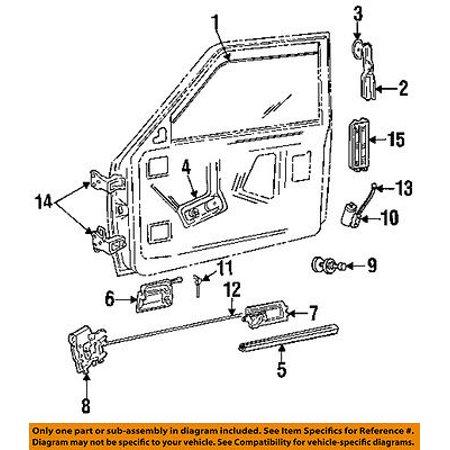 Dodge CHRYSLER OEM 87-93 Dakota Front Door-Lock Latch Kit 5011675AA ...