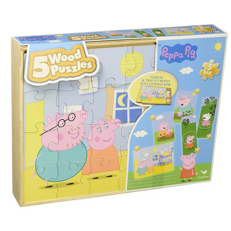 Peppa Pig 5-Wood Puzzle Pack