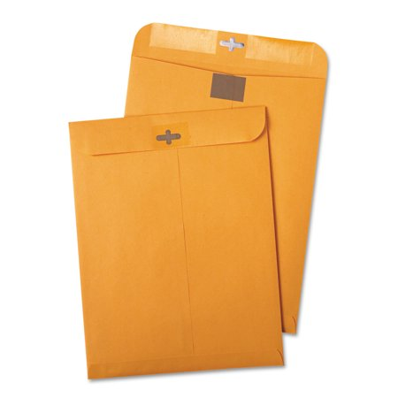 Quality Park Postage Saving ClearClasp Kraft Envelopes, 10 x 13, Brown Kraft, 100/Box -QUA43768