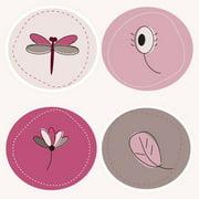 Secretly Designed Dragonflies Paper Print