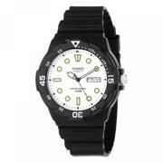 Men's Analog Dive-Style Watch, Black Resin