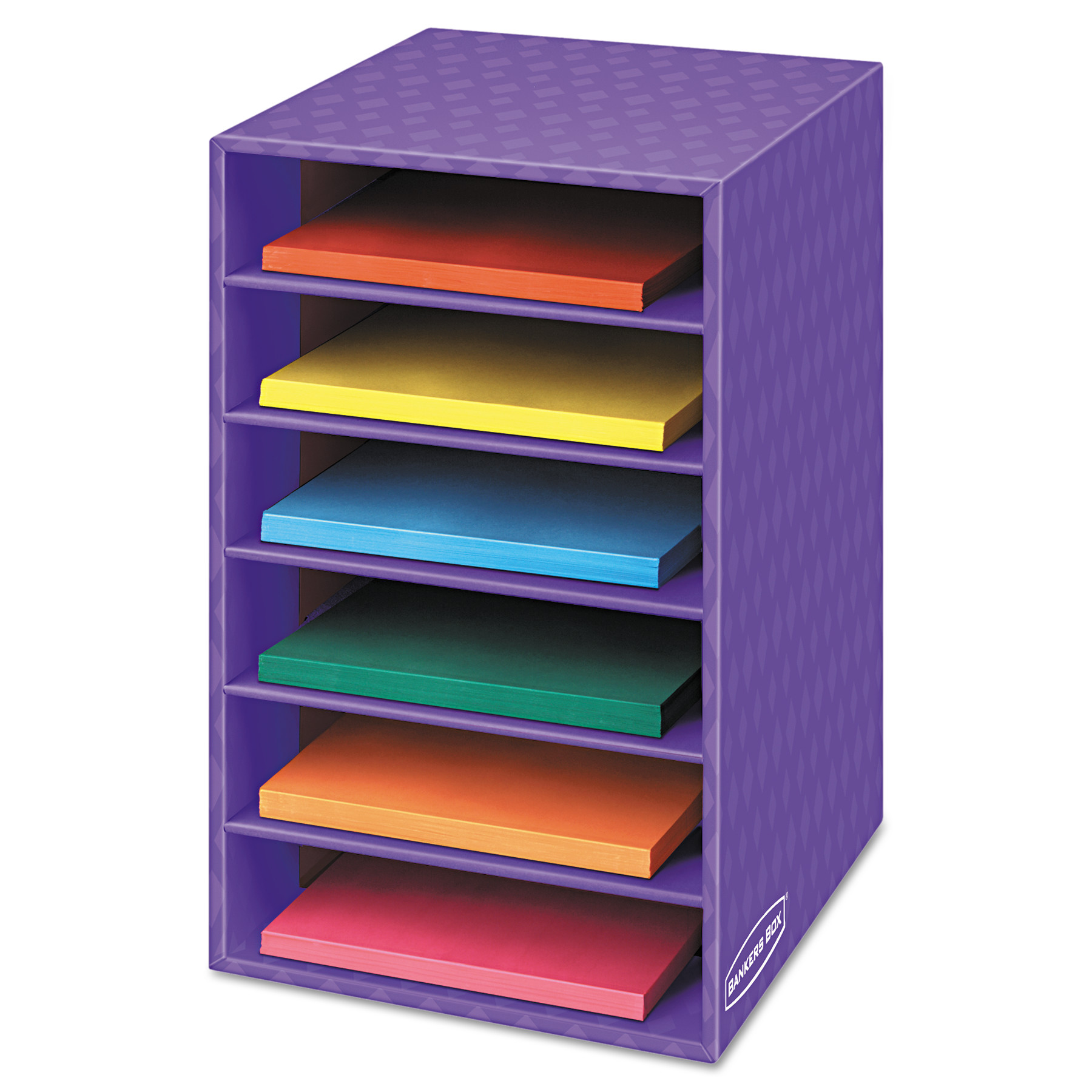Bankers Box Classroom Organizer, 6 shelves, 11 7/8 x 13 1/4 x 18, Purple
