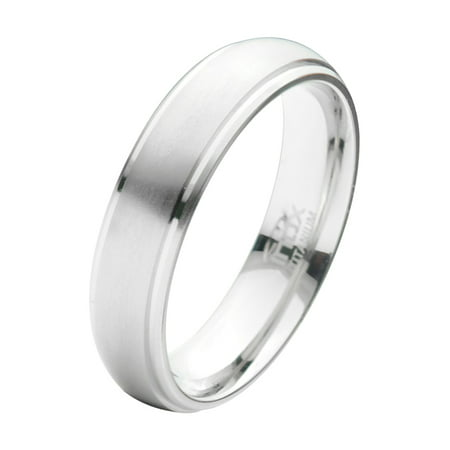 Inox Jewelry FRT006-12 Titanium Ring with Middle Section, Thick Matte Finish - 12 in. - image 1 de 1