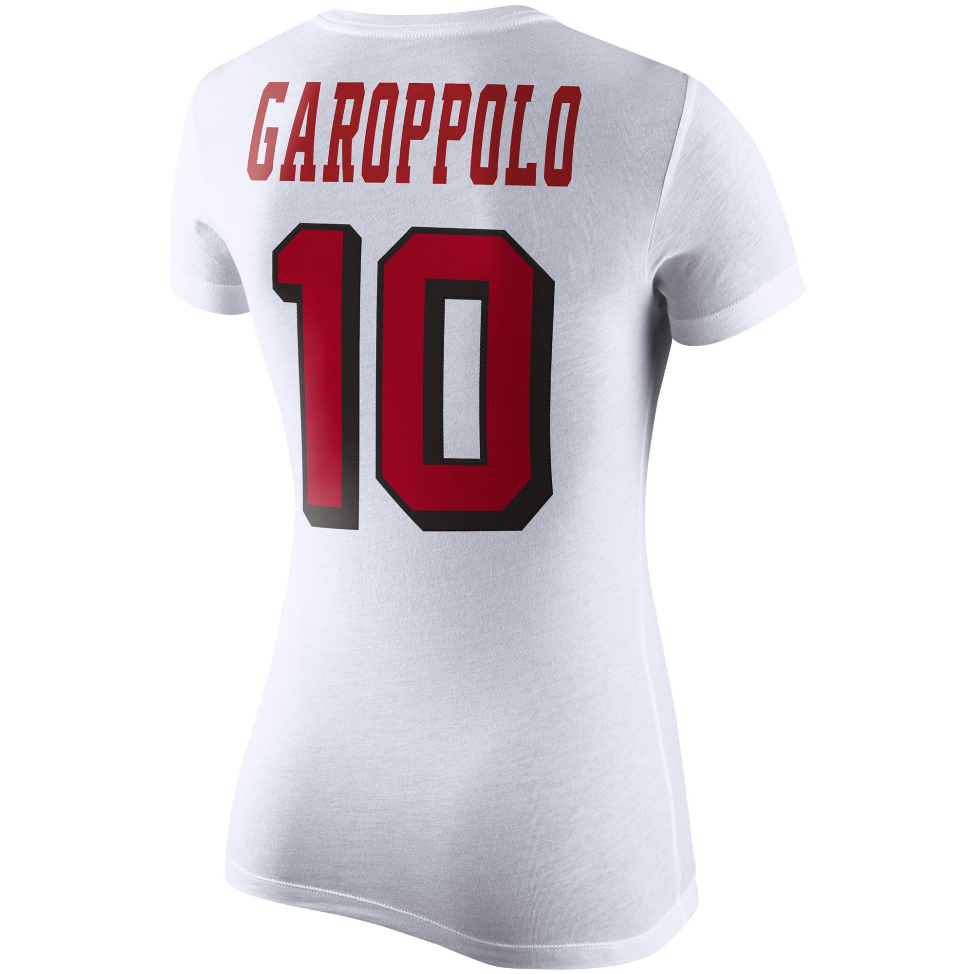 a9d008eb3 Jimmy Garoppolo San Francisco 49ers Nike Women s Team Player Pride Name   Number  Performance T-Shirt - White - Walmart.com
