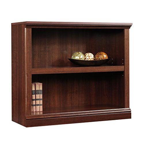 Sauder 2-Shelf Bookcase, Select Cherry Finish by