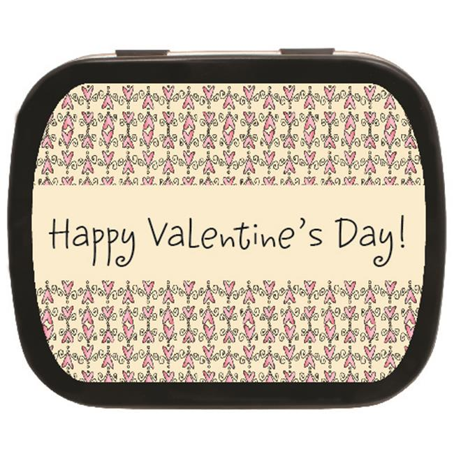 The MintBox PM-BLK31210 Heart Pattern Mint Tins  24 Pack