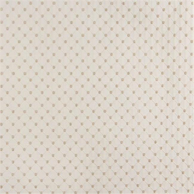 Designer Fabrics B647 54 in. Wide Off White, Diamond Jacquard Woven Upholstery Fabric