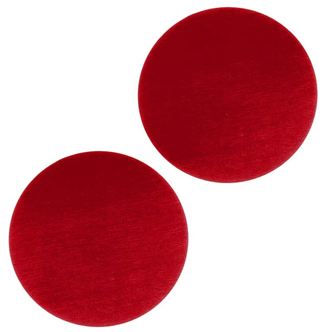 Lillypilly Anodized Aluminum Blank Circle Stamping Red 25mm (2)