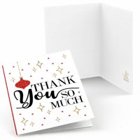 Red and Gold Friendsmas - Friends Christmas Party Thank You Cards (8 Count)