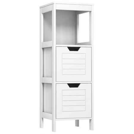 Costway Bathroom Wooden Floor Cabinet Multifunction Storage Rack Stand Organizer Bedroom - image 1 of 10