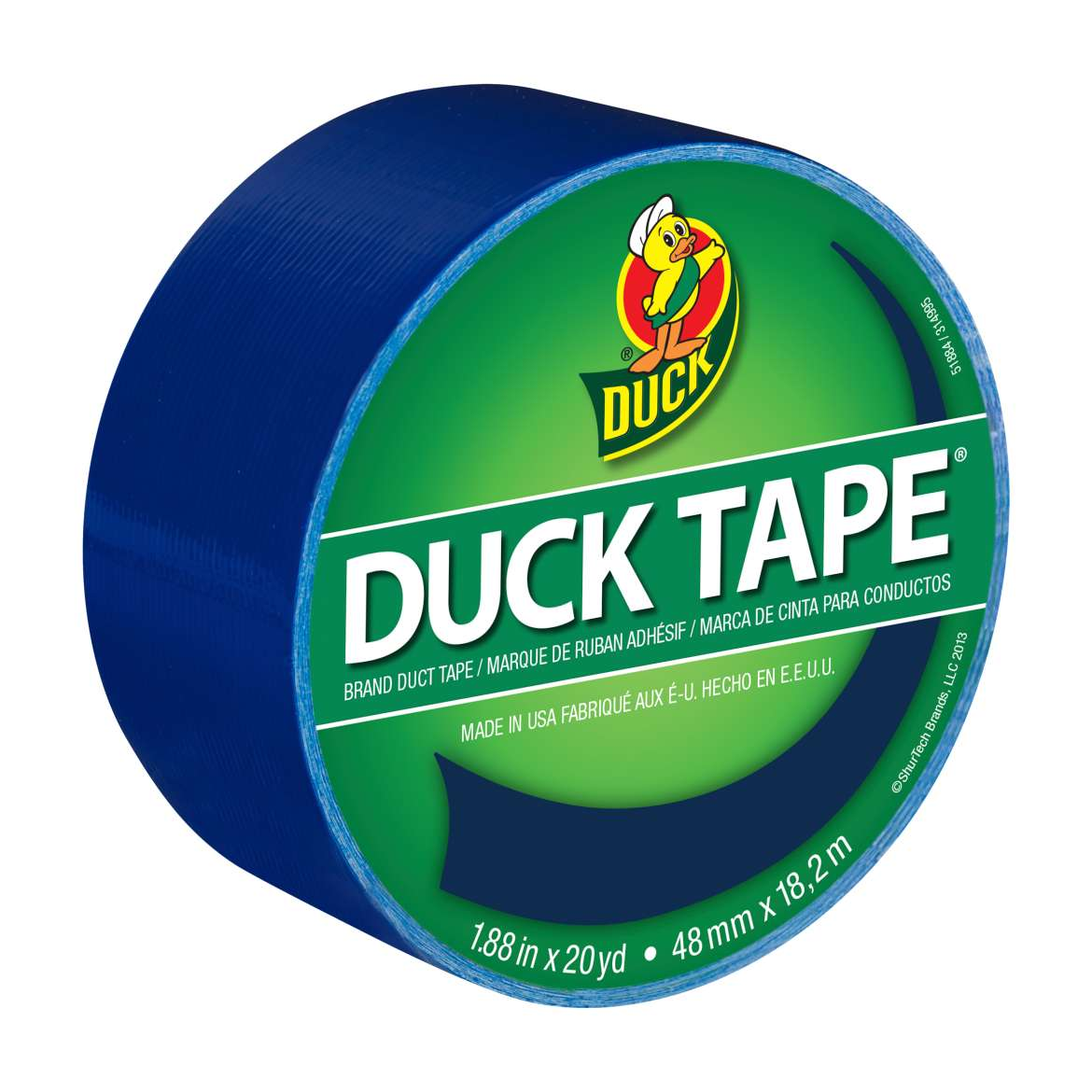 "Colored Duck Tape, 1.88"" x 20 Yard Roll, Deep Ocean Blue"