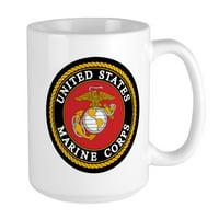CafePress - USMC Logo - 15 oz Ceramic Large Mug