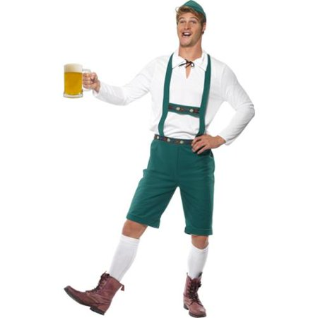 Oktoberfest Lederhosen Costume Adult: Green