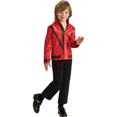 Morris Costumes Boys Michael Jackson Red Thriller Jacket Medium, Style RU884242MD - Thriller Jackets