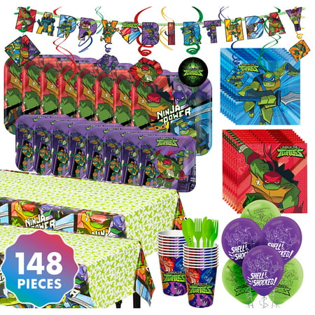 Party City Teenage Mutant Ninja Turtles Party Kit for 16 Guests, With Balloons