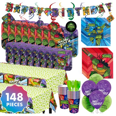 Party City Teenage Mutant Ninja Turtles Party Kit for 16 Guests, With Balloons](Party City Timing)