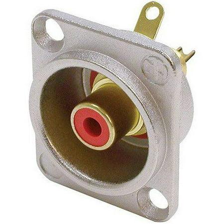 - Neutrik NF2D-2 RCA Jack Connector D-Series Red/Nickel