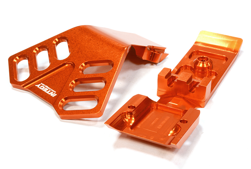 Integy RC Toy Model Hop-ups C25902ORANGE Billet Machined Front Skid Plate for Traxxas 1 10... by Integy