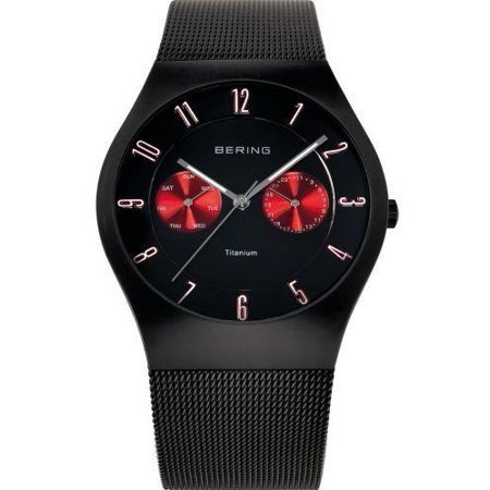 - Time 11939-229 Men's Titanium Collection Watch with Mesh Band and scratch resistant sapphire crystal. Designed in Denmark.