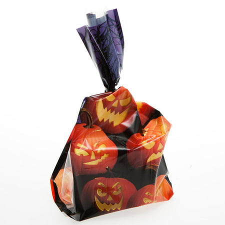 Easy Treats For Halloween (Ghoulish Grins Cellophane Treat Bags for)