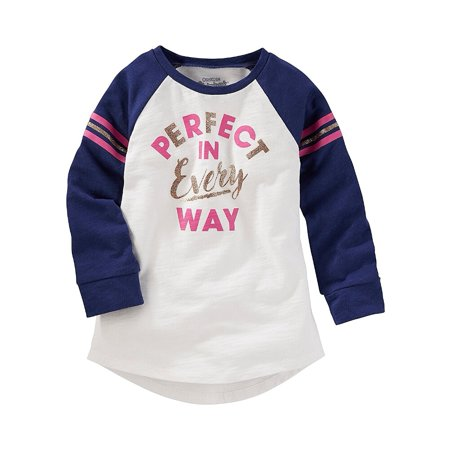Carters Oshkosh Toddler Clothing Outfit Little Girls Perfect Raglan Tunic Navy