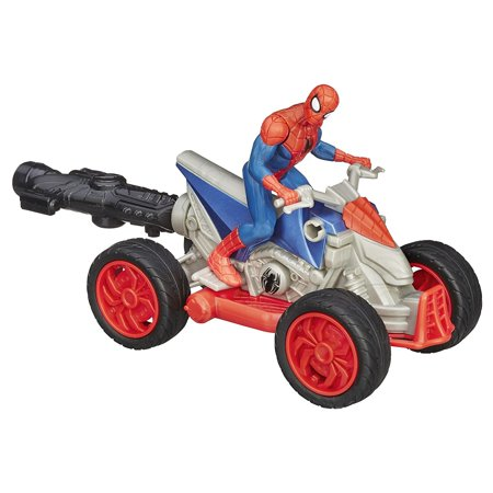 Marvel Ultimate Spider-Man Web Warriors Spider-Man ATV Vehicle, Spider-Man figure comes with speedy ATV vehicle By SpiderMan