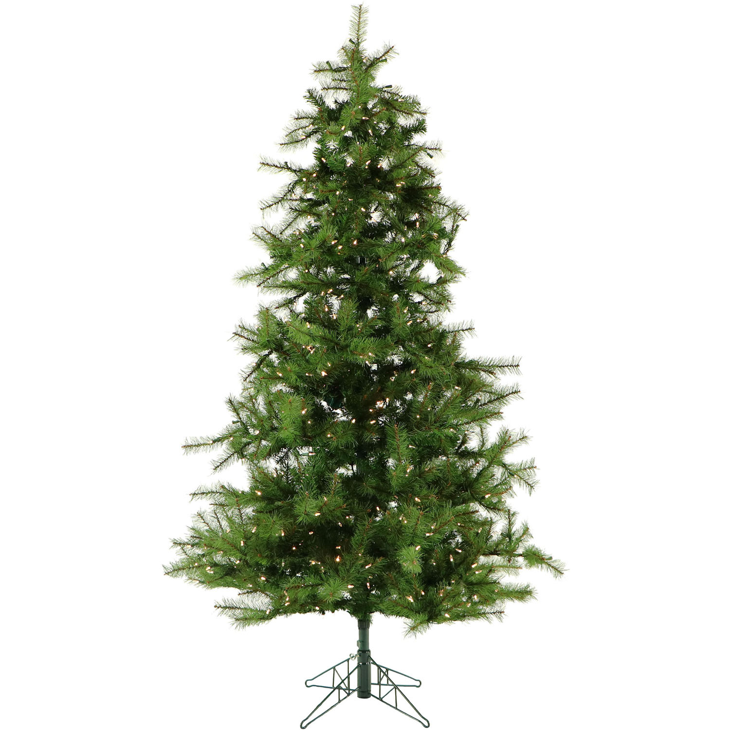 Fraser Hill Farm 7-Ft. Southern Peace Pine Artificial Christmas Tree with Clear Smart String Lighting