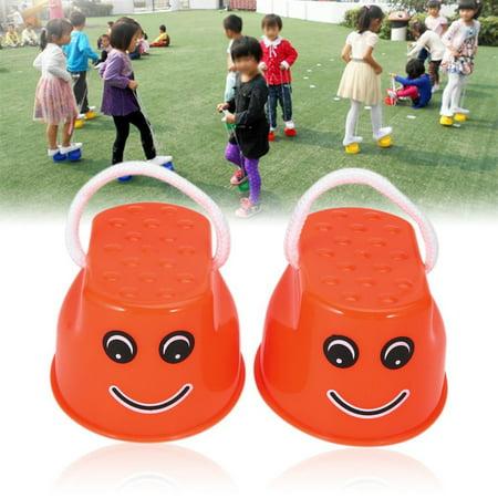 Funny Plastic Children Kids Outdoor Fun Walk Stilt Jump Smile Face Pattern Sports Balance Training Toy Best Gift - image 5 de 7