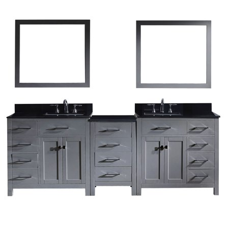 Virtu Md 2193 Bgsq Gr 001 Caroline Parkway 93 Inch Double Bathroom Vanity Set In Grey