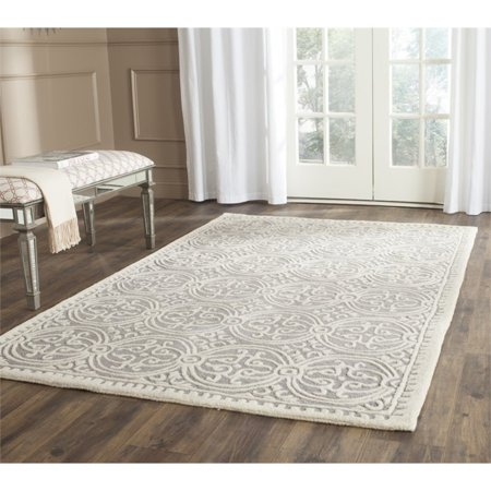 Safavieh Cambridge 6' X 9' Hand Tufted Wool Rug in Silver and Ivory - image 2 of 3