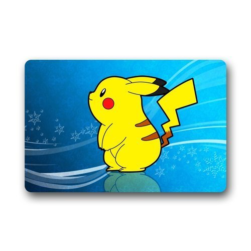 DEYOU Pokemon wallpaper Doormat Outdoor Indoor Floor Mats Non-Slip Bathroom Mats Size 23.6x15.7 Inch