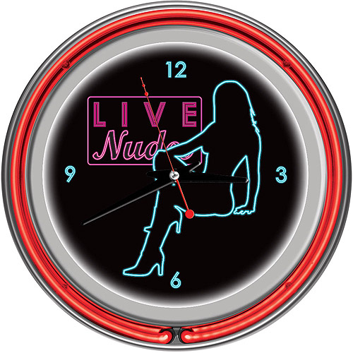 "Shadow Babes, D Series Red 14"" Neon Wall Clock"
