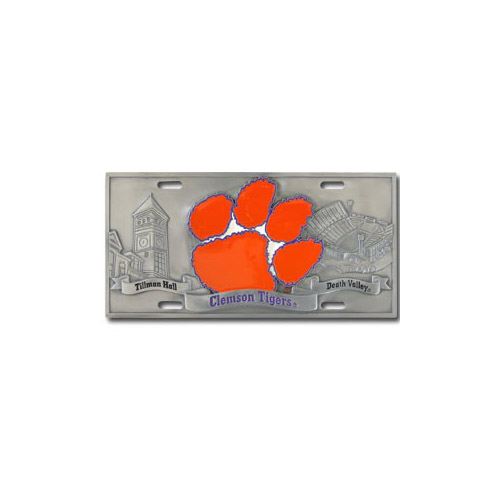 Clemson Tigers Official NCAA 3D License Plate by Siskiyou 790690