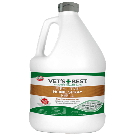 Vet's Best Flea and Tick Home Spray | Flea Treatment for Dogs and Home | Flea Killer with Certified Natural Oils | 96 Ounces