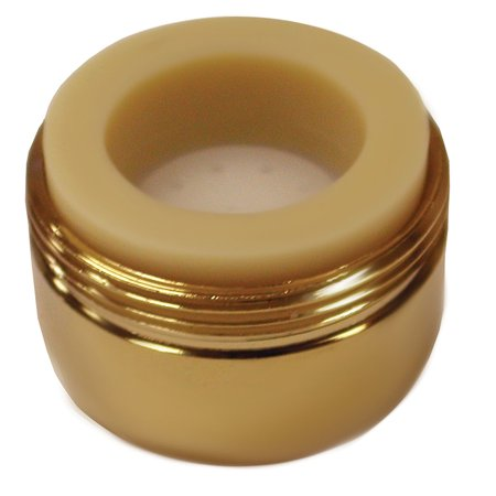 Polished Brass Non-Slotted Full Flow Aerator with Dual Threads,PartNo A01019 Jon