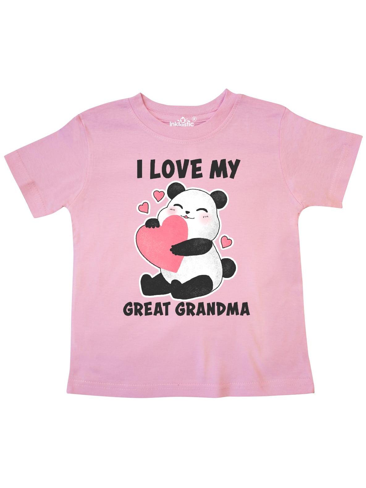 I Love My Great Grandma with Panda Illustration Toddler T-Shirt