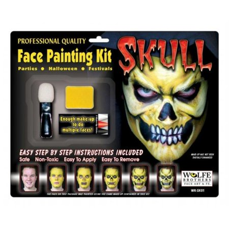 Costumes For All Occasions Wfsk01 Skull Makeup Kit Wolfe Bros](Candy Skull Makeup)