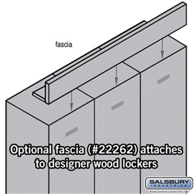 Salsbury 22262GRY Fascia Front Filler for Extra Wide Designer Lockers, Gray
