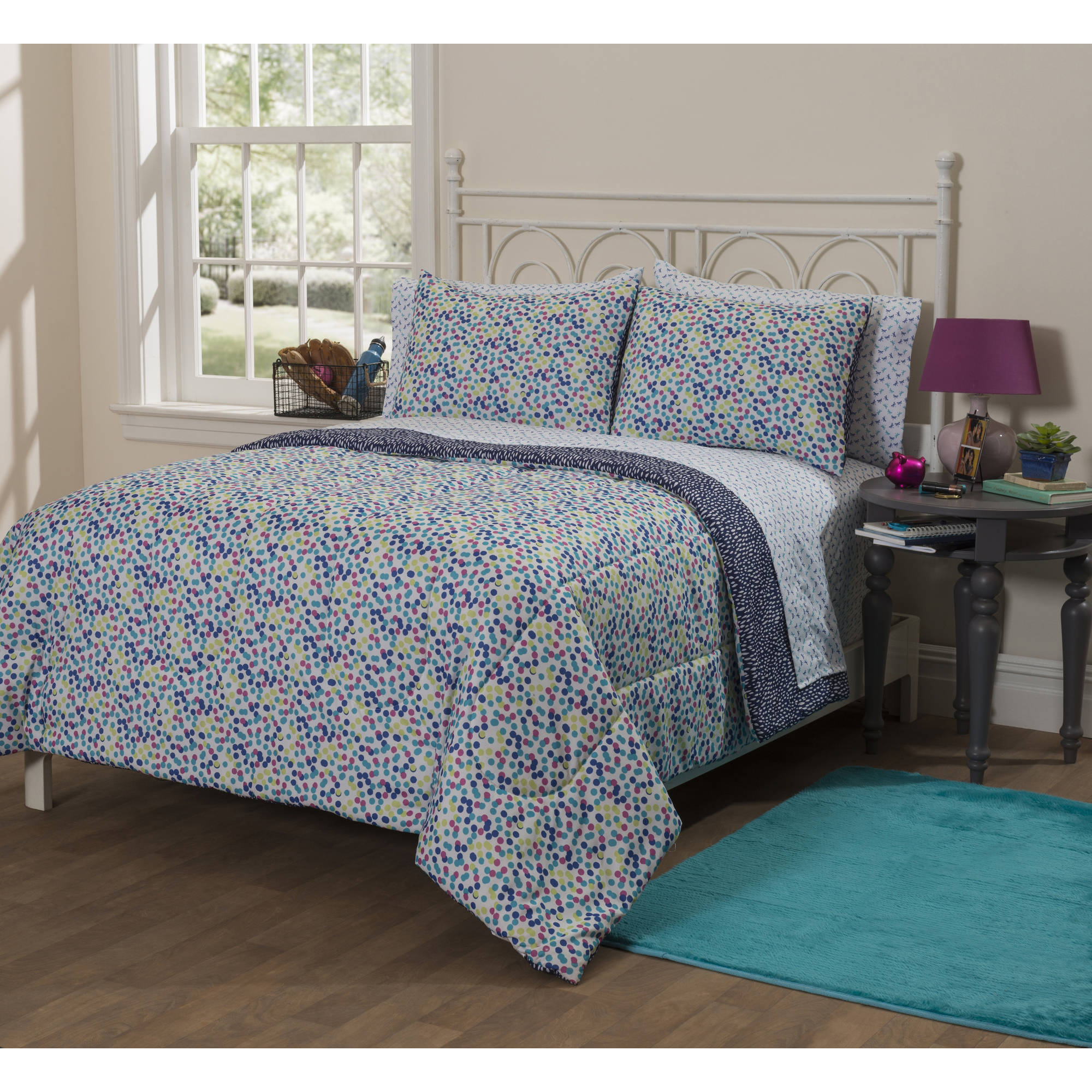 Latitude Scattered Dots Bed in a Bag Bedding Set