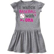 I Watch Baseball with My Oma Infant Dress