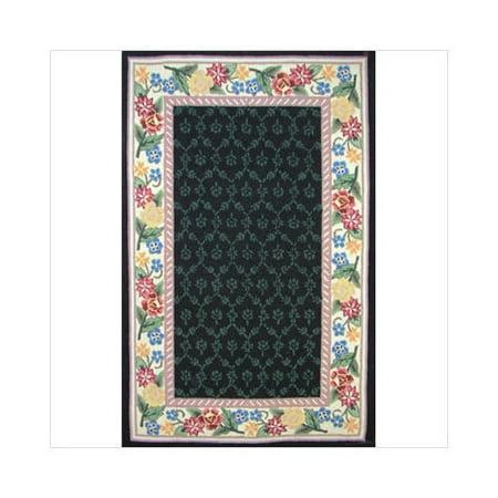 rug co bucks county black ivory damask hooked rug