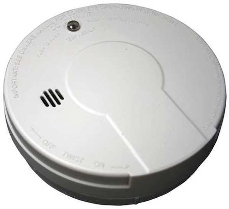 BATTERY OPERATED SMOKE DETECTOR W/LED LIGHT