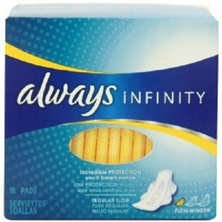 Product Of Always, Infinity Regular Unscented With Wings , Count 1 - Feminine Sanitary Napkins / Grab Varieties & Flavors