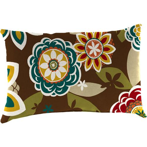 Jordan Manufacturing Indoor/Outdoor Patio Rectangular Toss Pillow, Annie Chocolate
