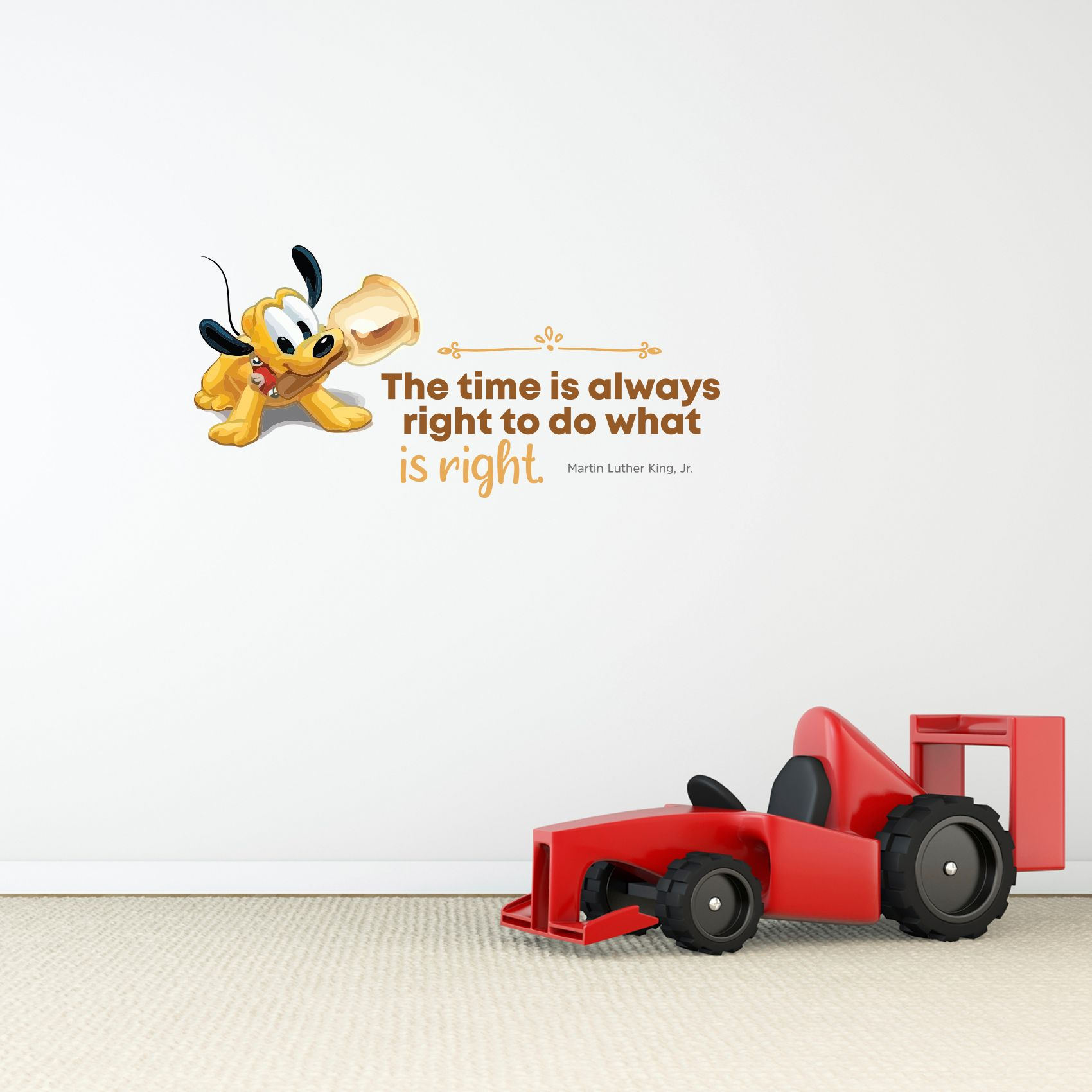 Always Right Baby Pluto Cute Quote Cartoon Quotes Decors Wall Sticker Art Design Decal For Girls Boys Kids Room Bedroom Nursery Kindergarten Home Decor Stickers Wall Art Vinyl Decoration 8x10 Inch