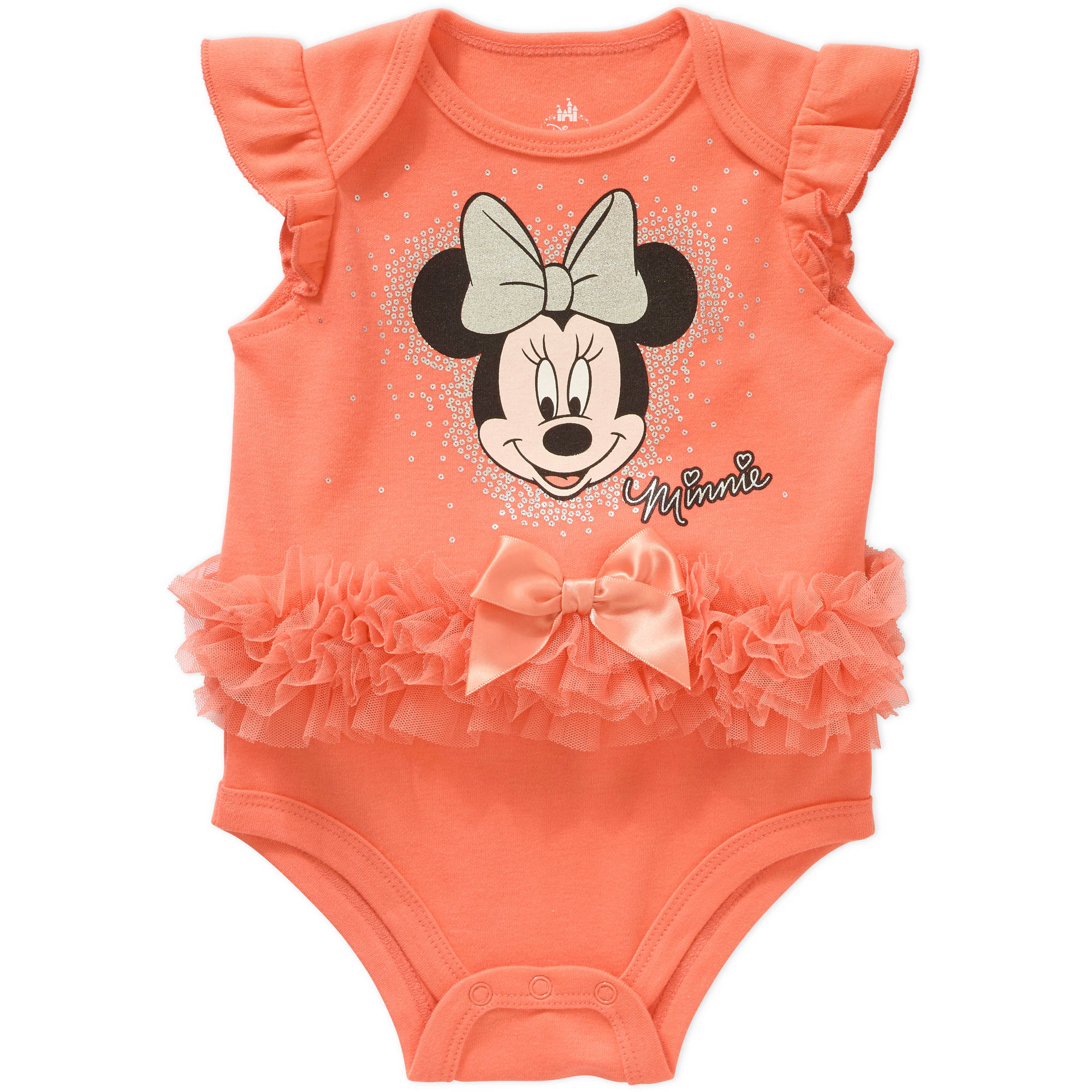 Minnie Mouse Newborn Baby Girl Skirted Bodysuit