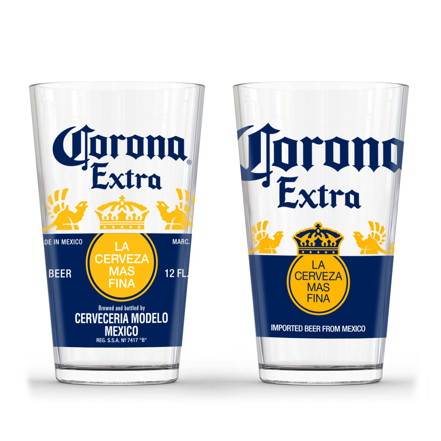 Corona Extra Pint Glass Set by Corona