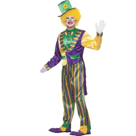 Diy Mardi Gras Halloween Costumes (Mardi Gras Clown Adult Halloween Costume, Size: Men's - One)